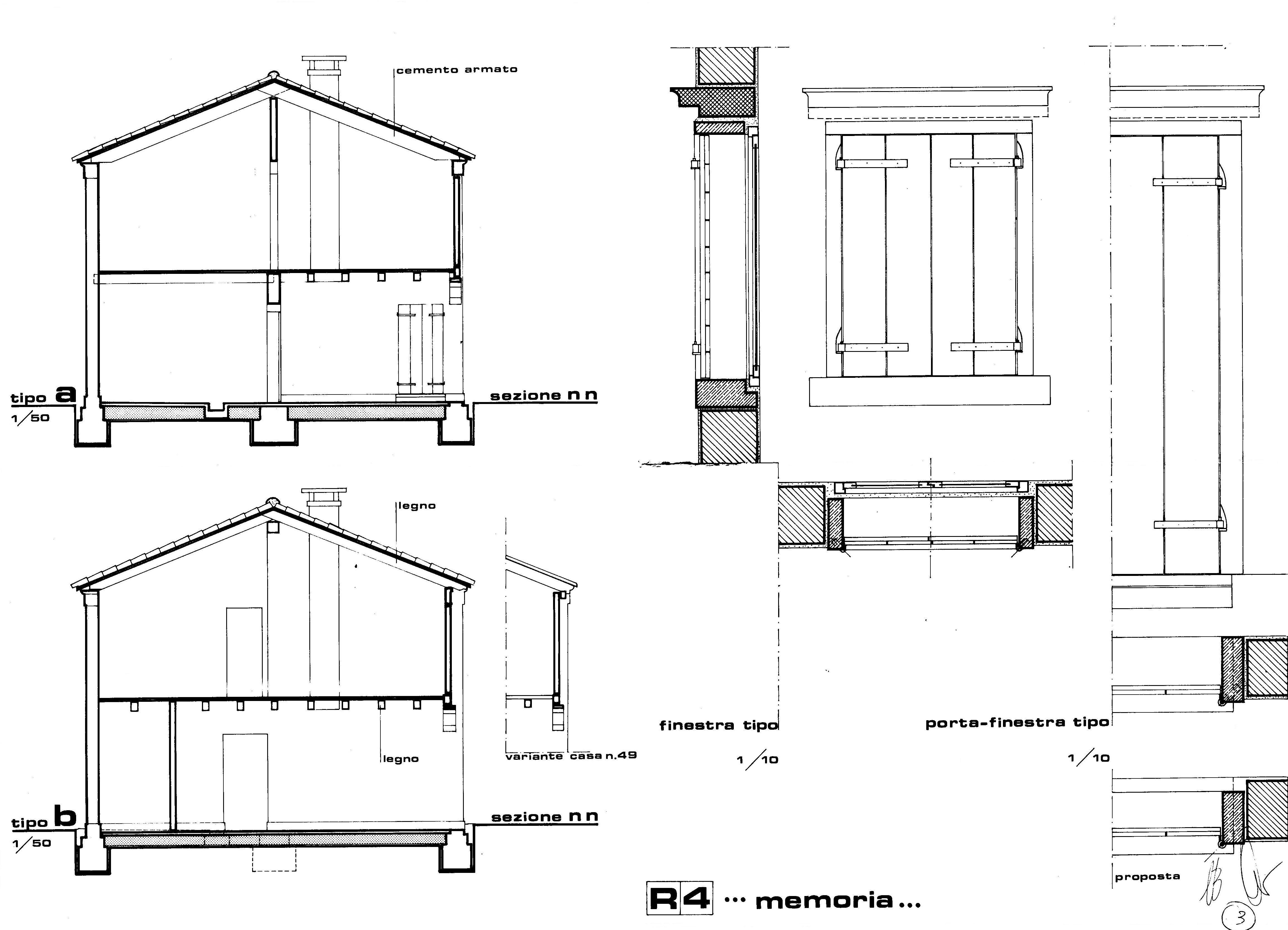 Bando di concorso per gli interventi nelle case camerini - Particolare costruttivo finestra ...