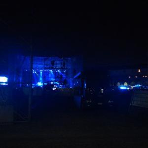 Palco, luci blu