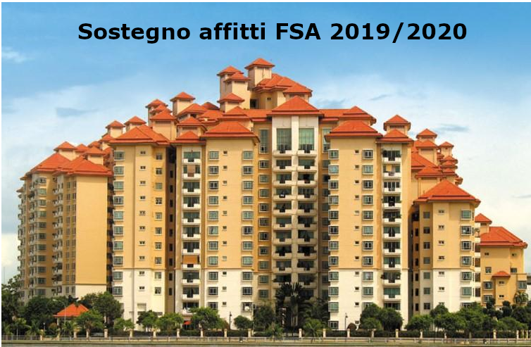 Sostegno affitti FSA 2019/2020