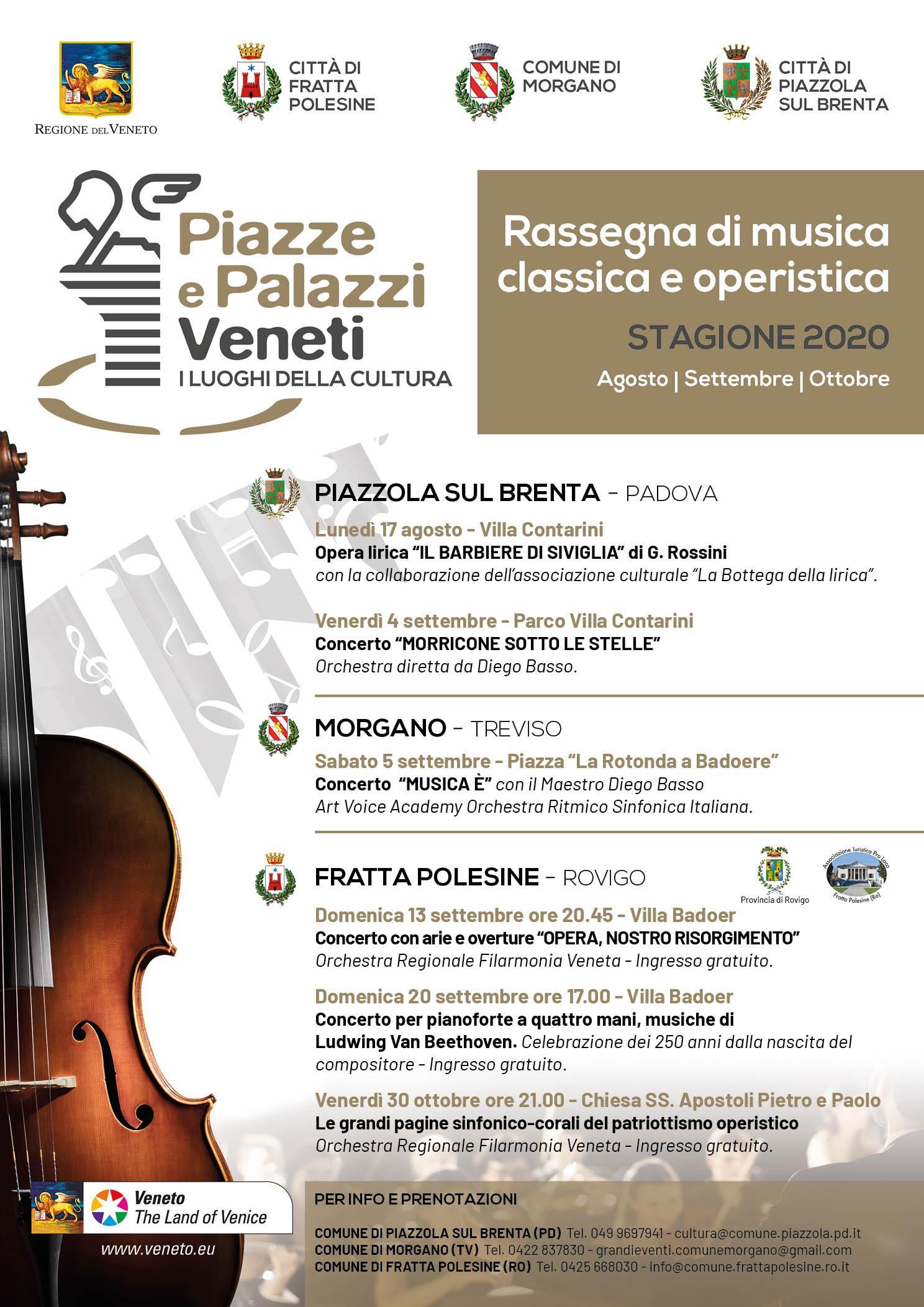 Rassegna di musica classica e operistica stagione 2020