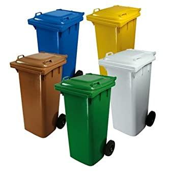 Distribuzione bidoni rifiuti
